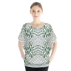 Green Snake Texture Blouse by LetsDanceHaveFun