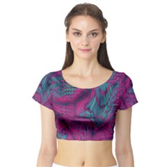 Asia Dragon Short Sleeve Crop Top (tight Fit) by LetsDanceHaveFun