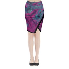 Asia Dragon Midi Wrap Pencil Skirt by LetsDanceHaveFun