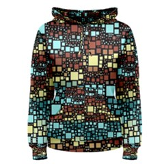 Block On Block, Aqua Women s Pullover Hoodie by MoreColorsinLife