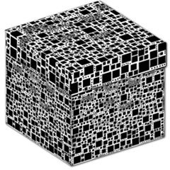 Block On Block, B&w Storage Stool 12   by MoreColorsinLife