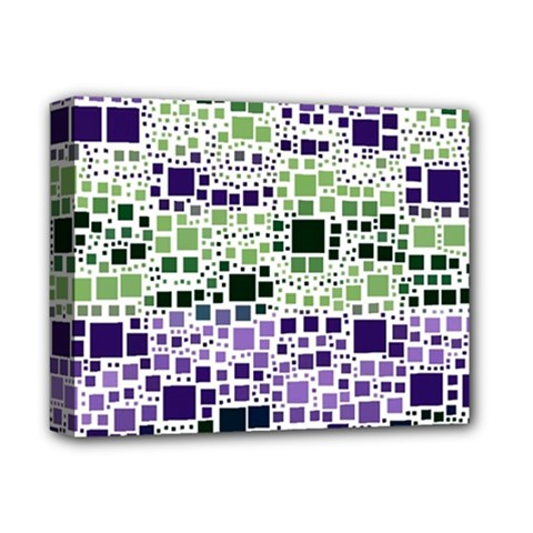 Block On Block, Purple Deluxe Canvas 14  X 11  by MoreColorsinLife