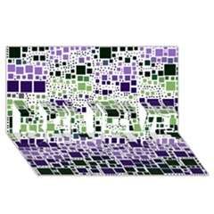 Block On Block, Purple Believe 3d Greeting Card (8x4) by MoreColorsinLife