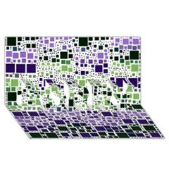 Block On Block, Purple Sorry 3d Greeting Card (8x4) by MoreColorsinLife