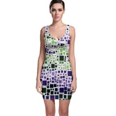 Block On Block, Purple Sleeveless Bodycon Dress by MoreColorsinLife