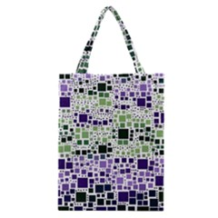 Block On Block, Purple Classic Tote Bag by MoreColorsinLife