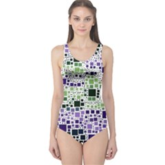 Block On Block, Purple One Piece Swimsuit by MoreColorsinLife
