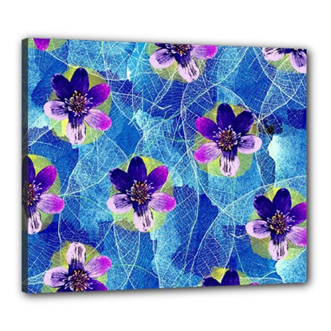 Purple Flowers Canvas 24  x 20
