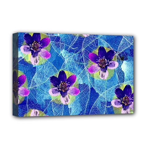 Purple Flowers Deluxe Canvas 18  x 12