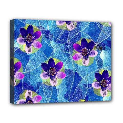 Purple Flowers Deluxe Canvas 20  x 16