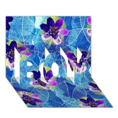Purple Flowers BOY 3D Greeting Card (7x5)