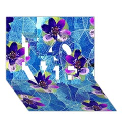 Purple Flowers Love 3d Greeting Card (7x5) by DanaeStudio