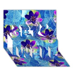 Purple Flowers Get Well 3d Greeting Card (7x5) by DanaeStudio