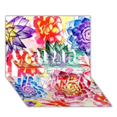 Colorful Succulents You Are Invited 3d Greeting Card (7x5)