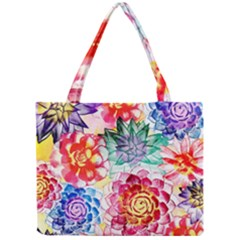 Colorful Succulents Mini Tote Bag