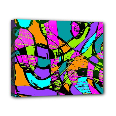 Abstract Sketch Art Squiggly Loops Multicolored Canvas 10  X 8  by EDDArt