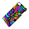 Abstract Sketch Art Squiggly Loops Multicolored Apple iPod Touch 5 Hardshell Case with Stand View4