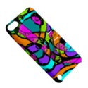 Abstract Sketch Art Squiggly Loops Multicolored Apple iPod Touch 5 Hardshell Case with Stand View5