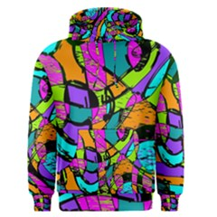 Abstract Sketch Art Squiggly Loops Multicolored Men s Pullover Hoodie by EDDArt