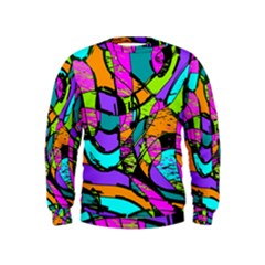 Abstract Sketch Art Squiggly Loops Multicolored Kids  Sweatshirt