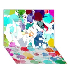 Colorful Diamonds Dream LOVE 3D Greeting Card (7x5)