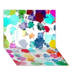 Colorful Diamonds Dream Circle 3D Greeting Card (7x5)
