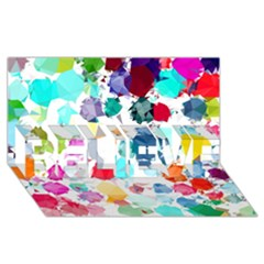 Colorful Diamonds Dream BELIEVE 3D Greeting Card (8x4)