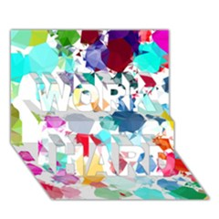 Colorful Diamonds Dream WORK HARD 3D Greeting Card (7x5)