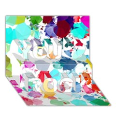 Colorful Diamonds Dream You Rock 3d Greeting Card (7x5) by DanaeStudio