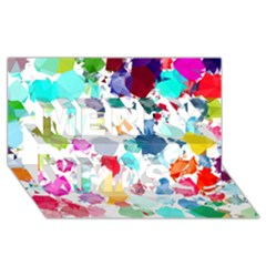 Colorful Diamonds Dream Merry Xmas 3D Greeting Card (8x4)