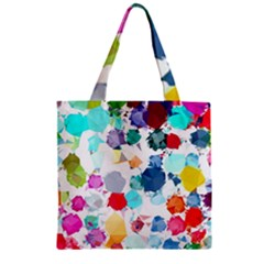 Colorful Diamonds Dream Zipper Grocery Tote Bag