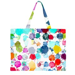 Colorful Diamonds Dream Zipper Large Tote Bag