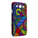 Pop Art Paisley Flowers Ornaments Multicolored Samsung Galaxy Mega 5.8 I9152 Hardshell Case  View2