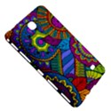 Pop Art Paisley Flowers Ornaments Multicolored Samsung Galaxy Tab 4 (7 ) Hardshell Case  View5
