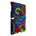 Pop Art Paisley Flowers Ornaments Multicolored Samsung Galaxy Tab S (10.5 ) Hardshell Case  View3
