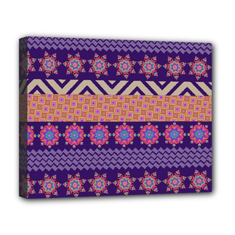 Colorful Winter Pattern Deluxe Canvas 20  x 16