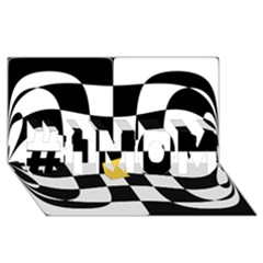 Dropout Yellow Black And White Distorted Check #1 Mom 3d Greeting Cards (8x4) by designworld65