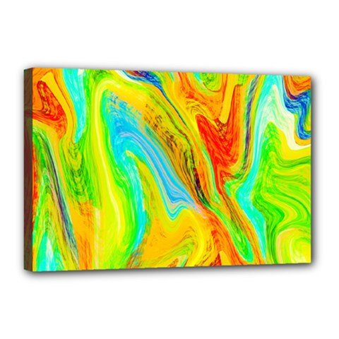 Happy Multicolor Painting Canvas 18  X 12  by designworld65