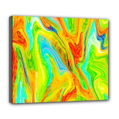 Happy Multicolor Painting Deluxe Canvas 24  X 20   by designworld65