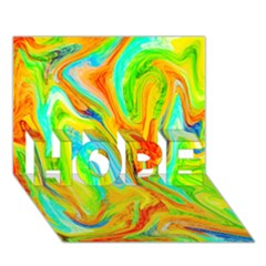 Happy Multicolor Painting Hope 3d Greeting Card (7x5) by designworld65
