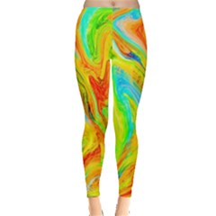 Happy Multicolor Painting Leggings  by designworld65