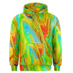 Happy Multicolor Painting Men s Pullover Hoodie by designworld65