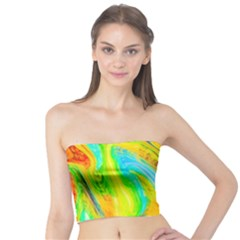 Happy Multicolor Painting Tube Top by designworld65