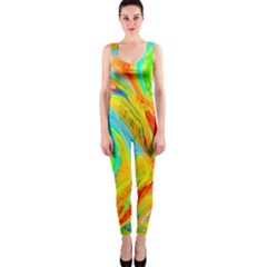 Happy Multicolor Painting Onepiece Catsuit by designworld65