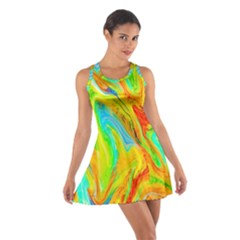 Happy Multicolor Painting Cotton Racerback Dress by designworld65