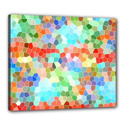 Colorful Mosaic  Canvas 24  X 20  by designworld65