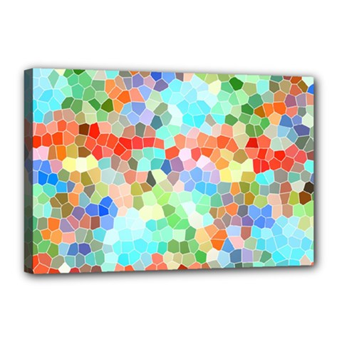 Colorful Mosaic  Canvas 18  X 12  by designworld65