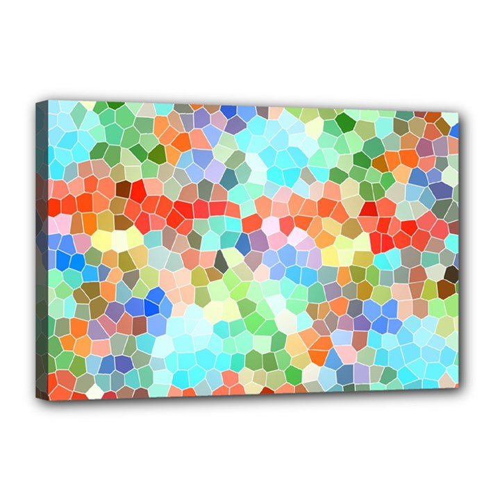 Colorful Mosaic  Canvas 18  x 12