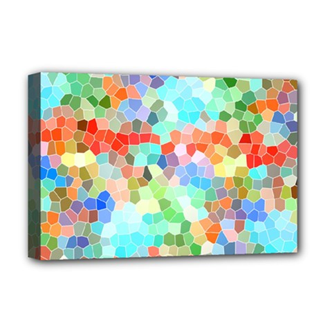 Colorful Mosaic  Deluxe Canvas 18  X 12   by designworld65