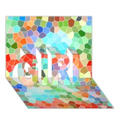 Colorful Mosaic  GIRL 3D Greeting Card (7x5)
